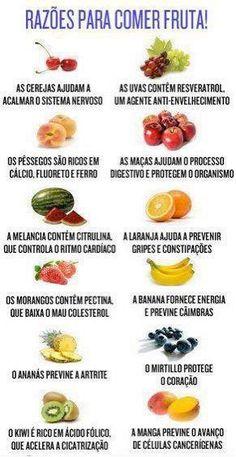 Razoes para comer frutas