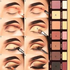 Check eye makeup tutorial for beginners step by step apply eyeliner, eye makeup . - - Makeup Tutorial Over 40 - Eye-Makeup Dramatic Eye Makeup, Eye Makeup Steps, Simple Eye Makeup, Smokey Eye Makeup, Eyeshadow Makeup, Eyeshadow Palette, Sparkly Eyeshadow, Copper Eyeshadow, Eyeliner Makeup