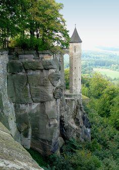 Königstein Fortress in Saxon Switzerland, Saxony