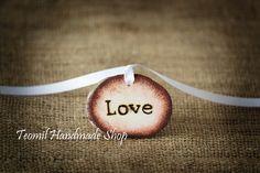 Set of 100 LOVE Rustic Wedding Favor Tags