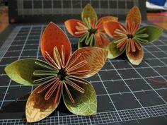scrapbook paper flowers
