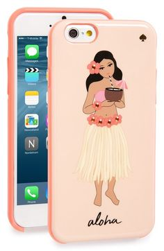 kate spade new york 'hula girl' iPhone 6 & 6s case available at #Nordstrom