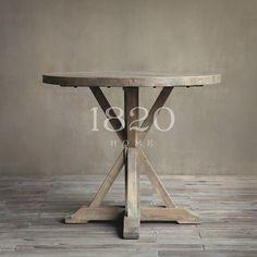 1820HOME американский / французский страна / средиземноморский дубовый паркет Деревянные столы Torx нога круглый стол - Taobao