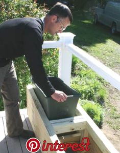 Professional Deck Builder: Easy Planter Boxes DIY Garden Yard Art When growing your own lawn yard ar Deck Planter Boxes, Deck Planters, Diy Planter Box, Garden Boxes, Plastic Planter Boxes, Indoor Planters, Concrete Planters, Cheap Planters, Modern Planters