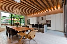 wood ceiling design modern - Google Search