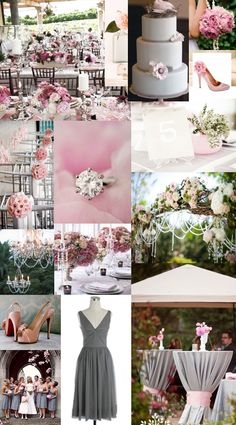 #pink & grey wedding... Wedding ideas for brides, grooms, parents & planners ... https://itunes.apple.com/us/app/the-gold-wedding-planner/id498112599?ls=1=8 … plus how to organise an entire wedding, without overspending ♥ The Gold Wedding Planner iPhone App ♥