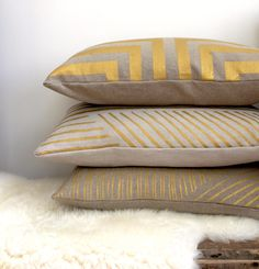 gold printed pillow covers.