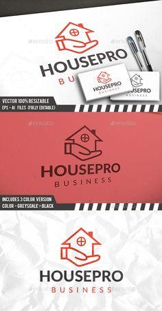 House Care Logo - Buildings Logo Templates Download here : http://graphicriver.net/item/house-care-logo/15682558?s_rank=269&ref=Al-fatih