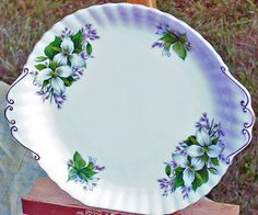 Bone China Royal Albert Trillium Cake Plate Vintage Never Used by EdibleComplex on Etsy (Beth), via Flickr