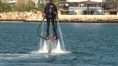 THEE COOLEST THING EVER! Watch the video of the flyboard zapata official