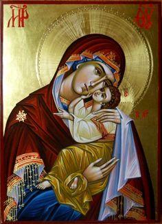 Theotokos by Elena Cerasela Ciuca Religious Images, Religious Icons, Religious Art, Syrian Christians, Image Jesus, Byzantine Icons, Holy Mary, Madonna And Child, Catholic Art