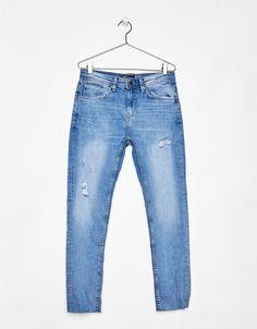 Jeans Skinny Fit com efeito lavado - Calças de ganga - Bershka Portugal