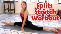 12 Minute Splits Stretch Flexibility Workout For Beginners How To Tutorial For The Splits Split Workout Routine, Workout Splits, Stretch Routine, Workout Routines For Women, How To Do Gymnastics, Gymnastics Videos, Gymnastics Workout, Dance Flexibility Stretches, Splits Stretches