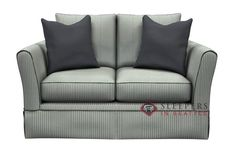 Savvy Rome Sleeper Sofa (Twin) Sleek arms and pleated skirt.  Super comfy! Customize it!