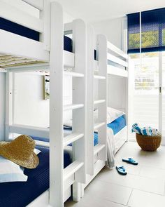 I like how sturdy these bunk beds look.  That way,  adults can use them too.