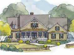 Country House Plan with 2465 Square Feet and 3 Bedrooms from Dream Home Source   House Plan Code DHSW53318