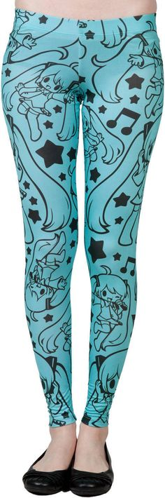 These are really cool Hatsune Miku Leggings, my favorite Vocaloid. Miku wasn't left out of the legging/tights craze that's been happening recently.