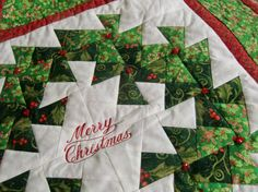 Twister Christmas Wreath Wall Hanging Quilt by KoloaQuiltsandMore