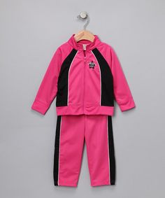 Take a look at this Fuchsia Track Jacket & Pants - Infant by Baby Togs on #zulily today!
