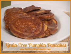 Grain-Free Pumpkin Pancakes with Coconut Flour
