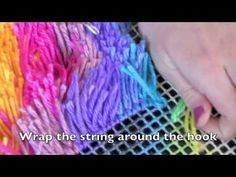 Latch Hook Tutorial by Utterly Hooked Designs - YouTube