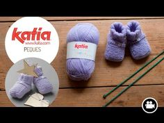 2 videos to learn how to knit baby booties and booties Knitting Videos, Knitting Yarn, Baby Knitting, All Free Crochet, Crochet Baby, Crochet Ideas, Baby Slippers, Baby Socks, Sewing Essentials