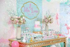 Sweet Table from a Mermaid Oasis Themed Birthday Party via Kara's Party Ideas | KarasPartyIdeas.com (57)