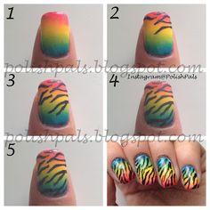 Rainbow Zebra Print Tutorial