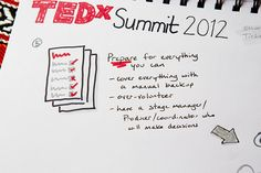 TEDx how-to notes from TEDxSummit. Photo by Kris Krüg