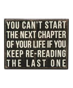 Look at this #zulilyfind! 'Next Chapter' Box Sign #zulilyfinds
