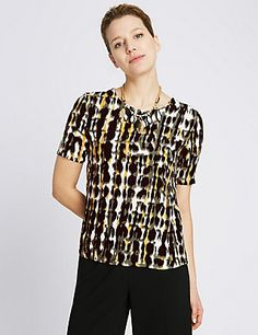 Abstract Print Utility Shell Top   M&S