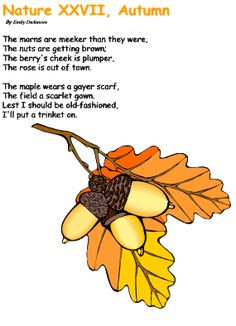 Autumn poetry for children {I like to print these and strewing them by the nature center}