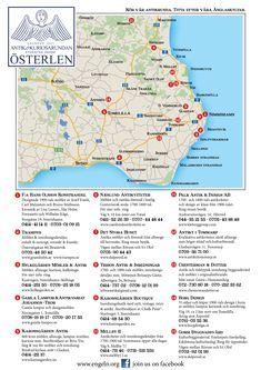 Antikrunda Österlen Map, Angels, Location Map, Maps