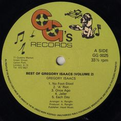 Gregory Isaacs - Best Of Gregory Isaacs Volume 2 (Label)