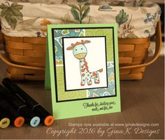 February 2016 Release Presentation - stampTV- Stamps Available at www.ginakdesigns.com. Genevieve Giraffe