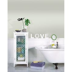 Love Peel & Stick Mirror Wall Art #wallart #valentines #love