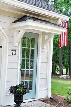 Front door overhang kits door overhang on door canopy for Front door portico kits