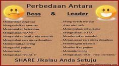 Tahukah anda bedanya Bos dan Pemimpin Seorang Bos belum tentu memiliki sifat kepemimpinan, sementara seorang Pemimpin yang baik pasti mampu memimpin…