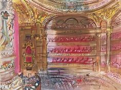 The Opera, Paris, early by Raoul Dufy Art Print Modern Poster Raoul Dufy, Moving To Paris, Fauvism, His Travel, Book Illustration, Artist Art, Impressionist, Art Inspo, Opera