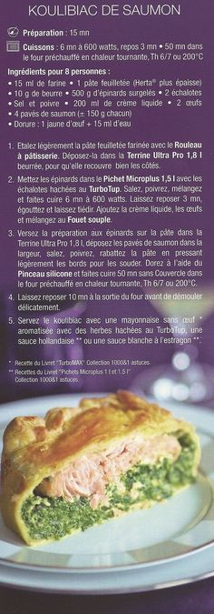 Recettes -saumon TUPPERWARE Tupperware Recipes, Just Cooking, Food N, French Food, High Tea, Sweet Recipes, Entrees, Tapas, Food To Make