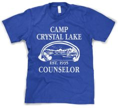 Camp Crystal Lake T Shirt Friday The 13Th Movie Tee