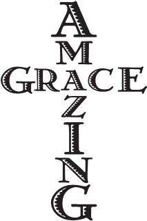 Amazing grace vinyl sticker