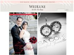 Congratulations to Raj whose sparkly wedding was featured on the Wedluxe Blog! Elsa Corsi Jewellery - Mellisa Gidney photography