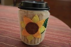 felted sweater sleeve coffe cup cozy