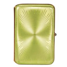 FABERGE MICHAEL PERCHIN Green Enamel Cigarette Case | From a unique collection of vintage enamel frames and objects at http://www.1stdibs.com/jewelry/objets-dart-vertu/enamel-frames-objects/