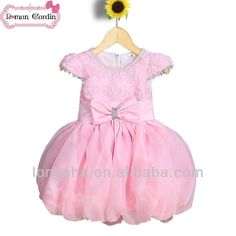 Rose des robes de mariée en dentelle robe d'anniversaire pour 3 ans bébé fille…