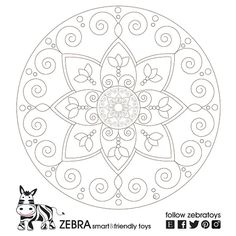 Harmony Mandala-Printable Art-Geometric Digital Print-Wall Décor-Meditation Art-INSTANT DOWNLOAD-Kids DIY sheet-Art Crafts-Coloring page by @zebratoys
