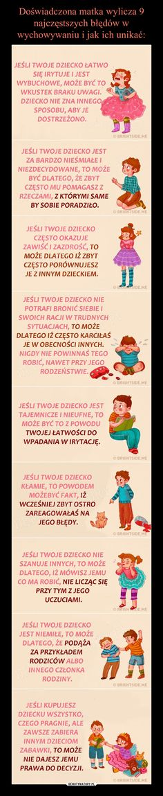 Doświadczona matka wylicza 9 najczęstszych błędów w wychowywaniu i jak ich unikać: Everything And Nothing, Emotional Intelligence, Infant Activities, Baby Hacks, Creative Kids, Better Life, Kids And Parenting, Good To Know, Fun Facts