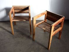 Instructions for armchairs made from scrap 2x4s.