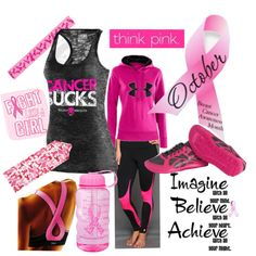 """""""Breast Cancer Awareness"""" WOD Wear 024 by sarcy321 on Polyvore featuring Under Armour, crossfit and CrossFitClothing"""